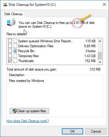 Disk Cleanup za Windows 10 može osloboditi poprilično mesta na disku