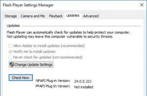 Flash update - proverite