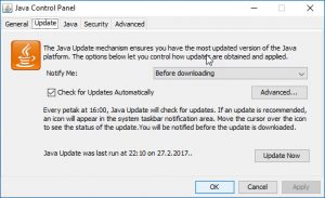 Java update - proverite